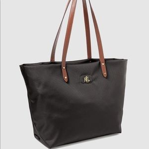 Bainbridge Nylon Bag with Gold Initials